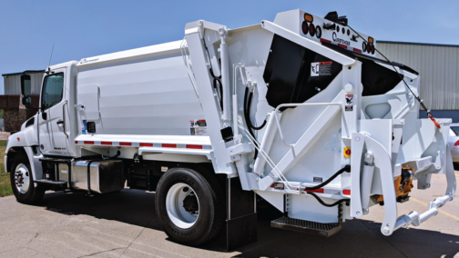 White Garbage Truck painted with Endura EX-2C Topcoat