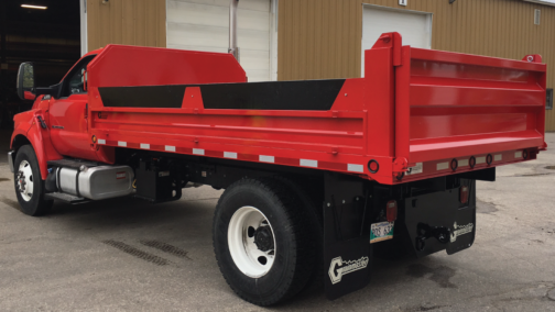 Red and black grain truck, painted with Endura Paint